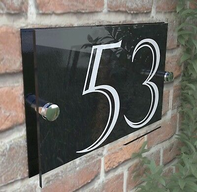 house number plaque plaques sign signs rustic contemporary 6