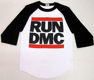 RUN DMC JMJ Retro T-shirt Rap Hip Hop Raglan Baseball Tee Adult S-2XL 3//4Sleeve