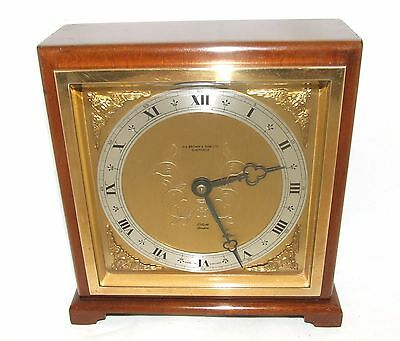 Large ELLIOTT LONDON Walnut Bracket Mantel Clock : H L BROWN & SON LTD SHEFFIELD 2