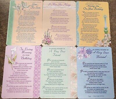 GRAVE MEMORIAL CARDS - Plastic Weatherproof - Various Relations & Christmas 7