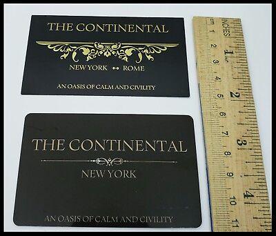 John Wick Continental Hotel Room Card Reeves Mcshane No Coin Baba Yaga Berry 12