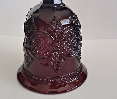 VINTAGE 1979 Cape Cod RUBY RED Glass  Hostess Bell Avon Christmas