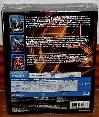 Los Vengadores Coleccion 3 Peliculas Blu-Ray Precintado Accion (Sin Abrir) R2 2
