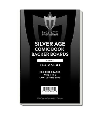 100 Max RESEALABLE Silver Age /Era Comic Book Poly Bags +Acid Free Backer Boards 2