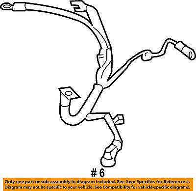 Subaru Oem 05 07 Outback 2 5l H4 Battery Cable 81601ag10a