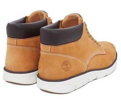 bae84f00ba8 TIMBERLAND BRADSTREET CHUKKA Boot Full Grain Leather Shoe Wheat Nubuck  Yellow