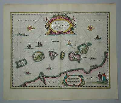 Insularum Moluccarum nova descriptio - Janssonius 1630 - Molukken - Indonesien