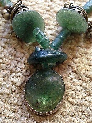 Antique Roman Glass Necklace 2