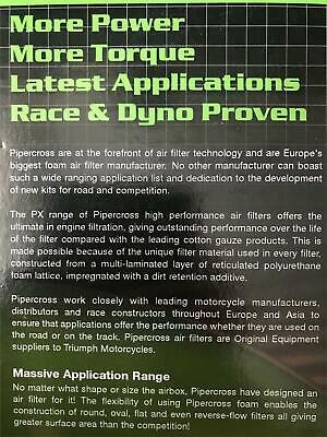 PIPERCROSS PERFORMANCE Air Filter For Ducati 748 916 996 Trumpet Sock OE MPX014