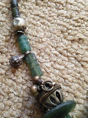 Antique Roman Glass Necklace 3