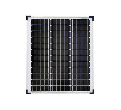 50Watt 12 Volt Solar Set Solaranlage Inselanlage Garten Camping Solarmodul 2