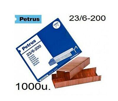 Grapas PETRUS 23/6 cajitas de 1000 grapas 2