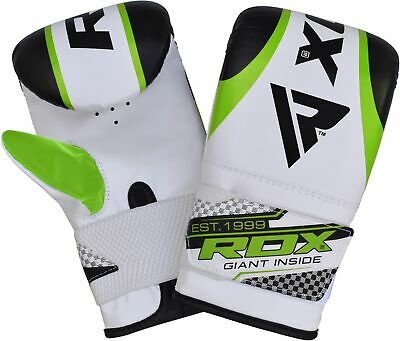 RDX Leather Punching Bag Stand Unfilled Training Mitts MMA Gloves Chains Green 6