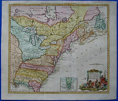A New Map of the British Empire in Nth America - USA Ostküste - Kitchin 1782