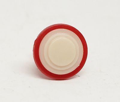 Round Red & White Vintage Plastic Drawer Pull 2