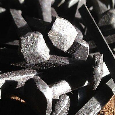 "(10) 2.5"" - Rosehead Nails  - Decorative Antique wrought square head - 8d 3"