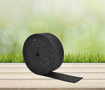 2m , 5m , 10m x 50mm  - Gummigranulat Rollen Streifen Terrassen Pads Stelzlager