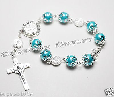 12 x baptism rosary bracelets bautizo rosario recuerdos quinceanera