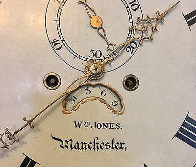 ~ Mahogany Grandfather Longcase Clock Rolling Moon Movement  W Jones Manchester 7