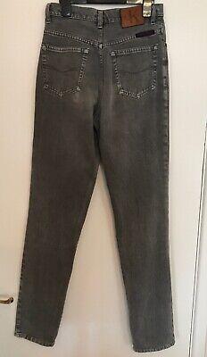 Calvin Klein Size W.28 L32 Unisex Straight Leg Grey Denim 100% Cotton Jeans 2