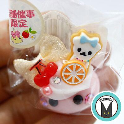 Hoppe Chan Sunhoseki Limited Cherry Cream Bear Cookie Kawaii Cute Phone Charm US
