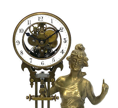 German Style Junghans Diana Swinging Swinger Clock with 8 Day Skeleton Movement 4