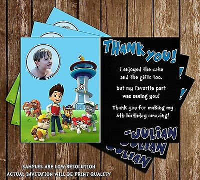 Paw patrol chase shield nick jr birthday invitations 15 2 of 4 paw patrol chase shield nick jr birthday invitations 15 printed w filmwisefo Images