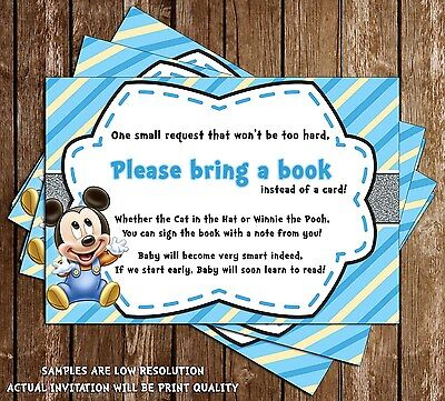 Baby Mickey Mouse Baby Shower Thank You Cards 15 Printed W