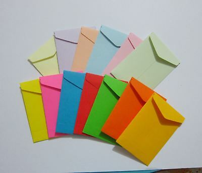 "Handmade seed envelopes 1-3/4""x2-1/2"" small coin money catalog storage gum flap"