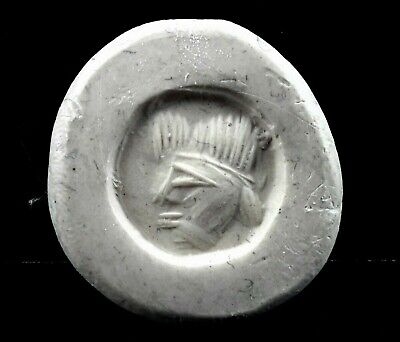 3Rd - 5Th Century A.d. Sassanian Green Rock Crystal Intaglio Stamp Seal Bead 3