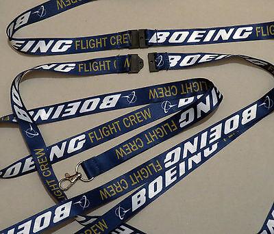 Lanyard BOEING FLIGHT CREW keychain neckstrap for pilot crew Lanyard