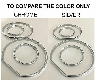 * For BMW E32 E34 Cluster Dashboard Dial Gauge Rings SILVER