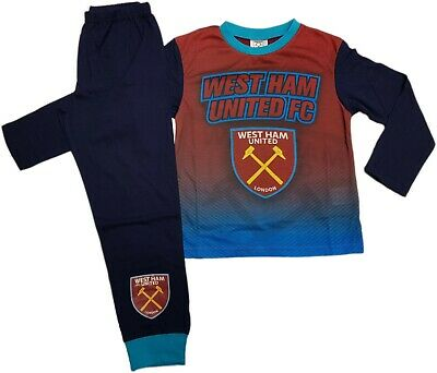 West Ham Utd FC Boys Football Pyjamas pjs Set Age 2 - 13 years HAMMERS IRONS 8