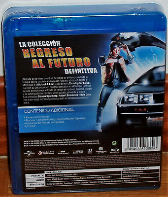 Trilogia Regreso Al Futuro Pack 3 Blu-Ray Nuevo Precintado Aventuras (Sin Abrir) 2