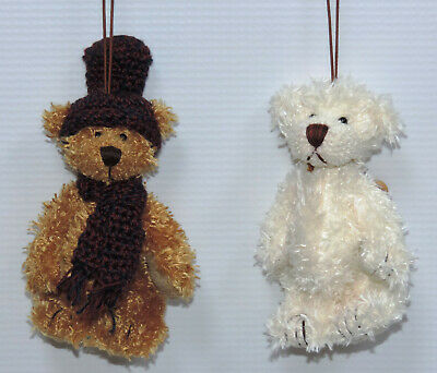 Miniature Teddy Bear Ornaments - 12 pc. Assorted Set 3