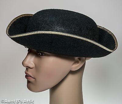 6cacf0e033d ... Tricorn Hat Men s 18th Century Colonial Style Black Felt Costume Hat  Large 2
