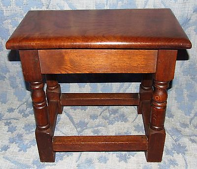 Antique Style SOLID Oak Joint Stool / Occasional Table / Lamp Stand (35) 3