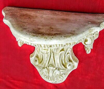 Vintage Shelf Acanthus leaf Tassel Wall Corbel Sconce Bracket 3