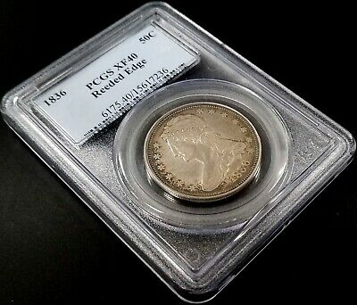 1836 Reeded Edge Capped Bust Half Dollar graded XF 40 by PCGS! Only 1200 minted! 2