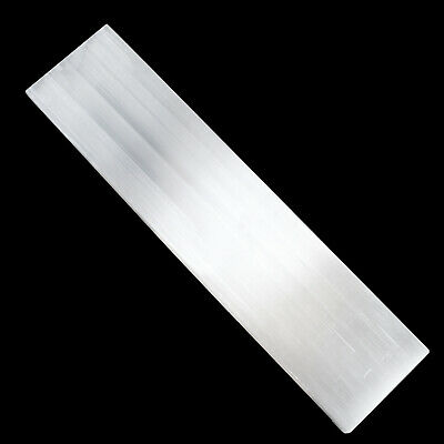 "XL Polished Selenite ""Charging"" Plate 8"" Flat Natural Crystal Display Plate Wand 2"