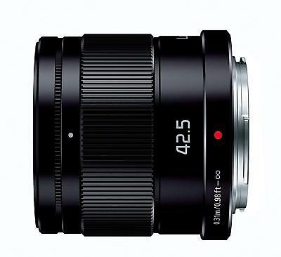 Panasonic H-HS043-K Black Single focal Lumix G 42.5 mm F1.7 ASPH POWER O.I.S NEW