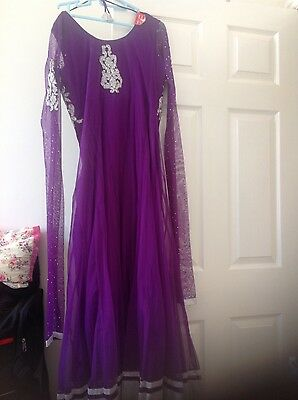 Pakistani Salwar kameez Indian Party Anarkali Designer Dress 5