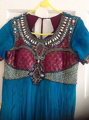 Pakistani Indian Party Anarkali Designer Dress 2