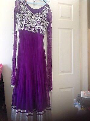 Pakistani Salwar kameez Indian Party Anarkali Designer Dress 8