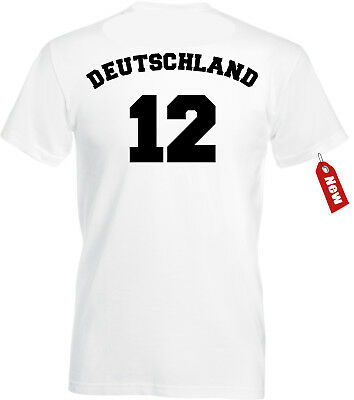 best loved 5c052 34e11 WM T-SHIRT TRIKOT Deutschland mit Druck Nummer + Name Herren+Kinder Geschenk