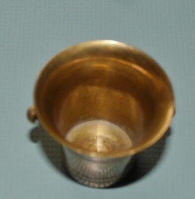 Alter Mörser & Stößel Pistill Miniatur Apotheke Messing Antik Vintage klein 8