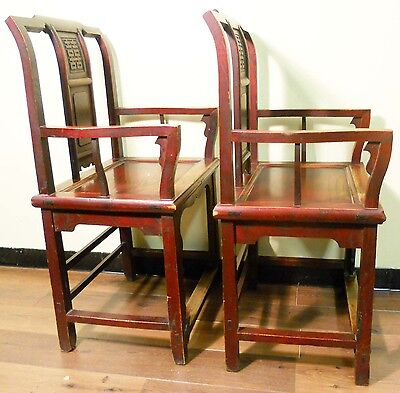 Antique Chinese Ming Arm Chairs (3293), Circa 1800-1849 5