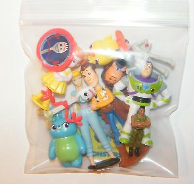Disney Toy Story 4 Movie Figure Set of 10 With New Character Forky and Bonus 7