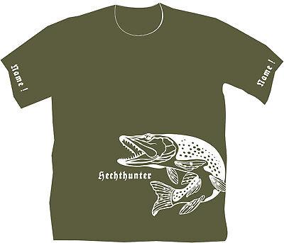 Hechthunter Anglershirt Angler T-Shirt Hechtangeln Pike Fishing Angeln Köder 207