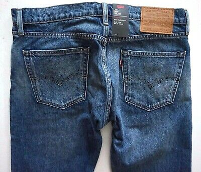 NWT Levi/'s Premium Men/'s 511 Slim Fit Selvedge Stretch Jeans B Shadoo Water Less